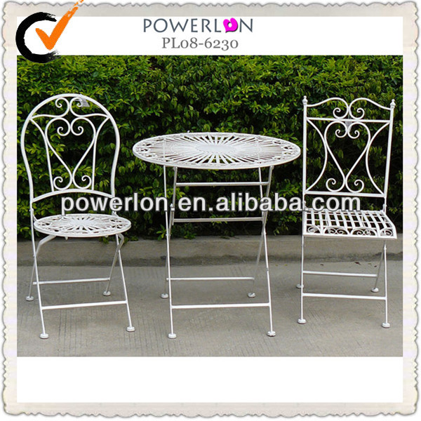 White Iron Table And Chairs Part - 47: Wrought Iron Folding Table, Wrought Iron Folding Table Suppliers And  Manufacturers At Alibaba.com