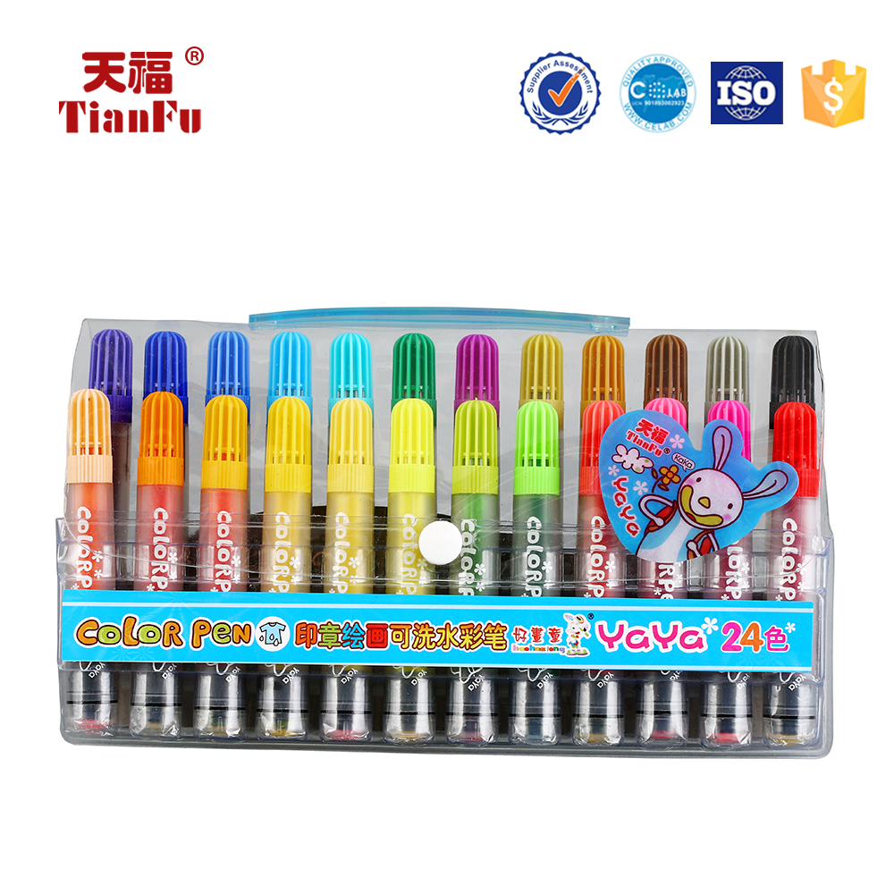 Factory price colourful water resist non-toxic water color pen