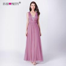 Длинные платья для выпускного бала, элегантные тюлевые Платья А-силуэта с треугольным вырезом и блестками для свадебной вечеринки 2020, EP07455OD(Китай)