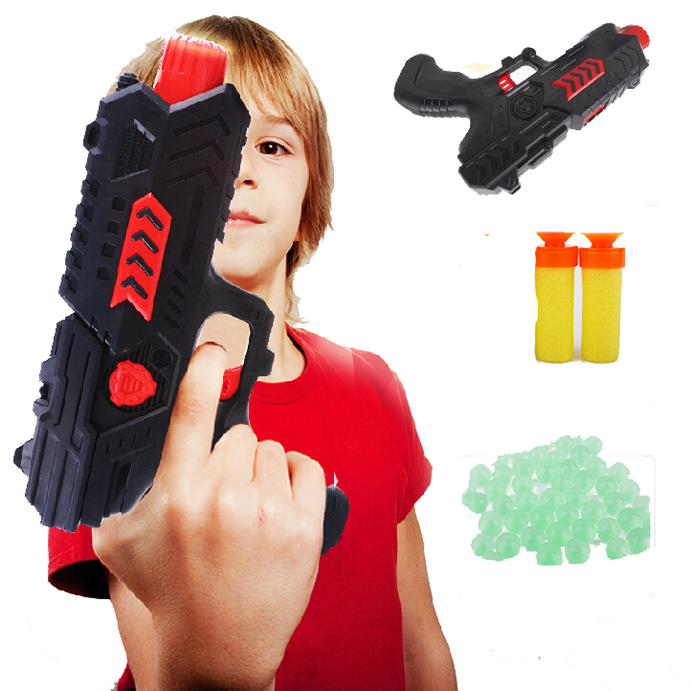 Paintball Pistol & Soft Bullet Gun Children's Plastic CS Game Shooting Water Crystal Gun Nerf Air Soft Gun Airgun