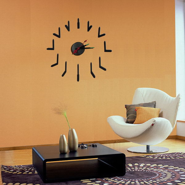 Cheap new products trend style modern home furnishing diy 3d large decorative wall clocks