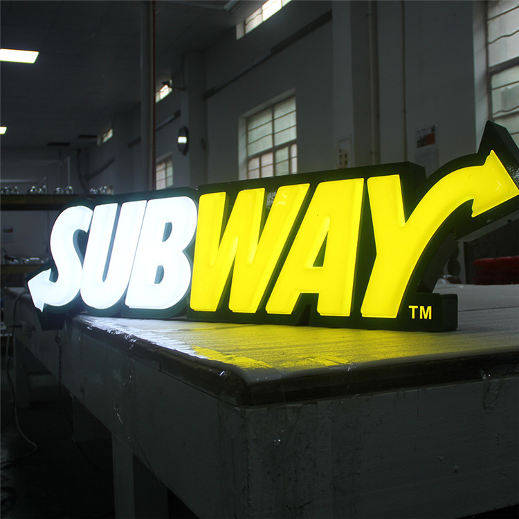 Lighted Backlit Outdoor Acrylic Luminous Big Letters