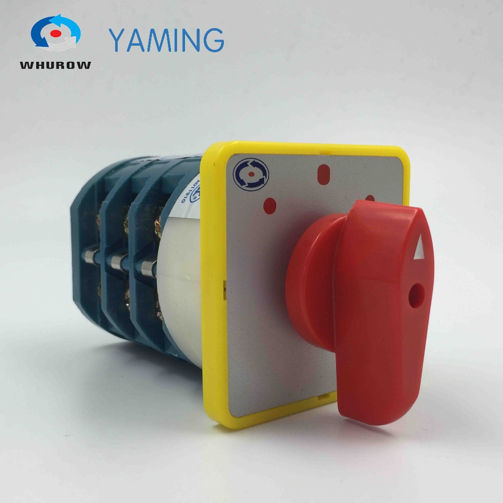 Yaming electric rotary changeover cam switch forward/off/reverse motor control commutateur manuel mains switch LW5D-40 5.5N/3