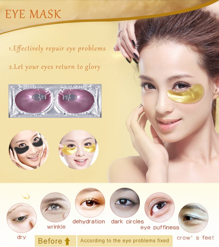 Nourishing eye masks collagen hydrogel eye patch mask private label eye mask