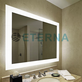 Led Backlit Mirror And Surrounding Illuminated Frosted Strips Mirror Tv For  Bathroomu0026hotel   Buy Light Up Bathroom Mirrors,Bathroom Led Mirror,Mirror  ...