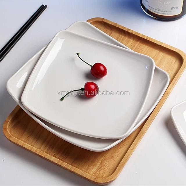 food grade plastic plate 100% melamine square tableware white dinner dishes & Buy Cheap China plastic melamine white dinner plates Products Find ...