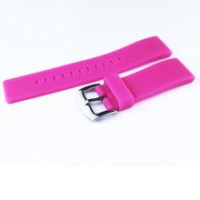 Аксессуары для часов 22 мм силиконовые часы с плоской прямой пряжкой для всех мужчин и женщин Спорт на открытом воздухе резиновый ремешок дл...(China)
