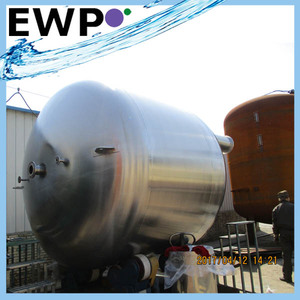 High quality carbon steel tank with liner/water storage tank/sand filter tank