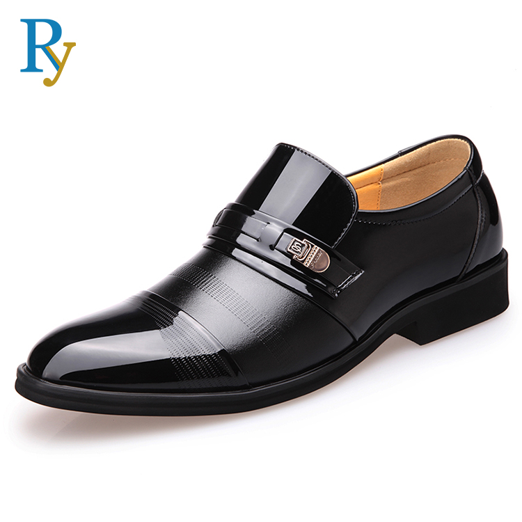 Manufacturer wholesale men leather shoes custom cow leather business shoes