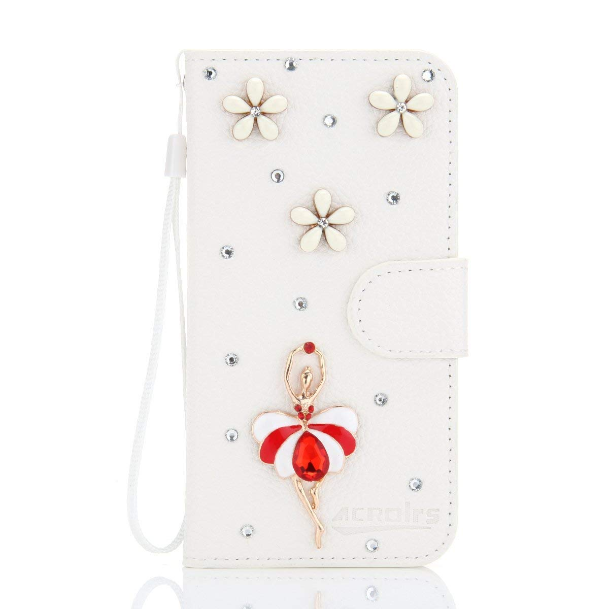 AICEDA ZTE Blade L3 Wallet Case, Stylish Slim PU Leather Accessories Stand and Card Holders Wallet Phone Cover Skin Protective Case for ZTE Blade L3 -Ballet Dancer