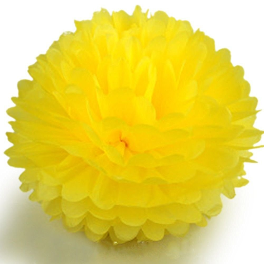 Buy new arrival decor 12 yellow color tissue paper pom flowers new arrival decor 12 yellow color tissue paper pom flowers balls wedding party decor 20 mightylinksfo