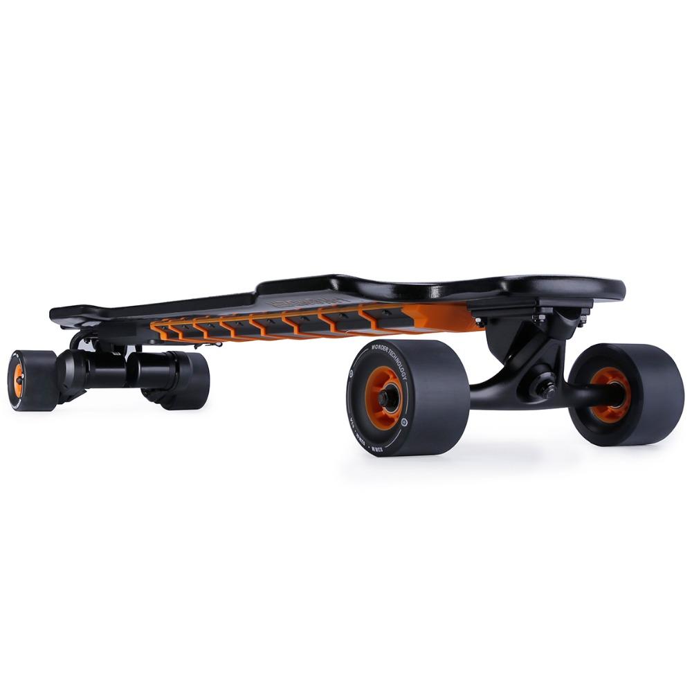 SK-F I-Wonder electric skateboard flexible deck dual motors 1200W*2 belt driven longboard boosted board