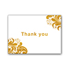 Custom high quality Black greeting card , embossing gold foil stamp thank you card