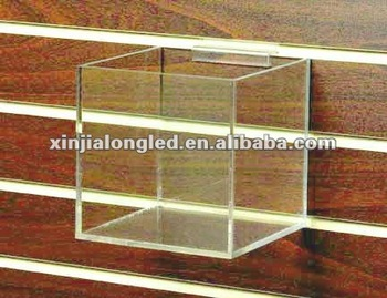 Cube Clear Acrylic Storage Boxes And Bins 5 Sided Acrylic Cubes