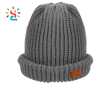 Plain Female Crochet Jacquard Tam Hat Straight Needle Knit Hat