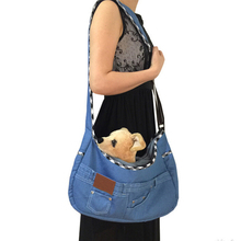 Hands Free Reversible bag pet sling carrier bag with Adjustable Strap for Small Dogs Puppies Cats Rabbits