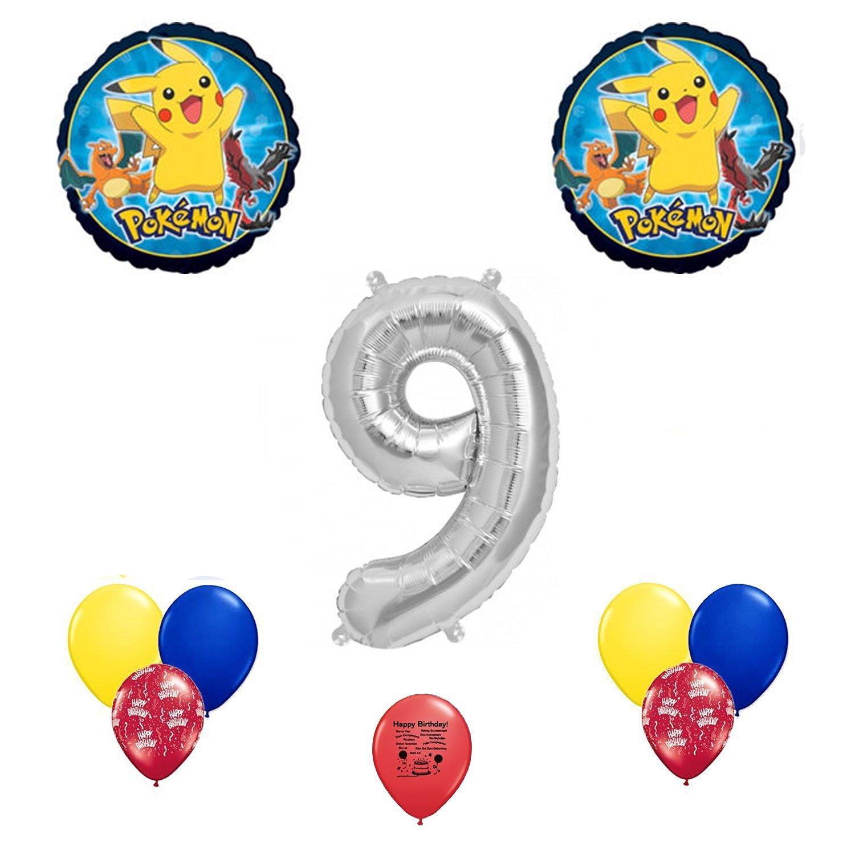 Pokemon Go Happy 9th Birthday Balloon Decoration Kit