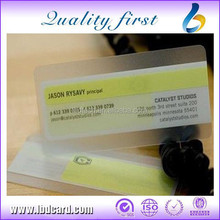 Customized 0.3~0.76mm Thickness PVC Transparent Card/ Transparent Business Cards
