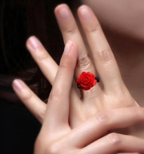 gold rings rose julie red designs by