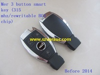 Mercede Benz 3 button smart key fob (315 mhz/rewritable BGA chip) Before 2014