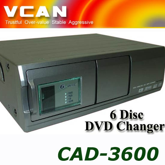 CAD-3600-6 Car Multi-Disc 6Disc DVD VCD CD MP3 MP4 player changer ip bus