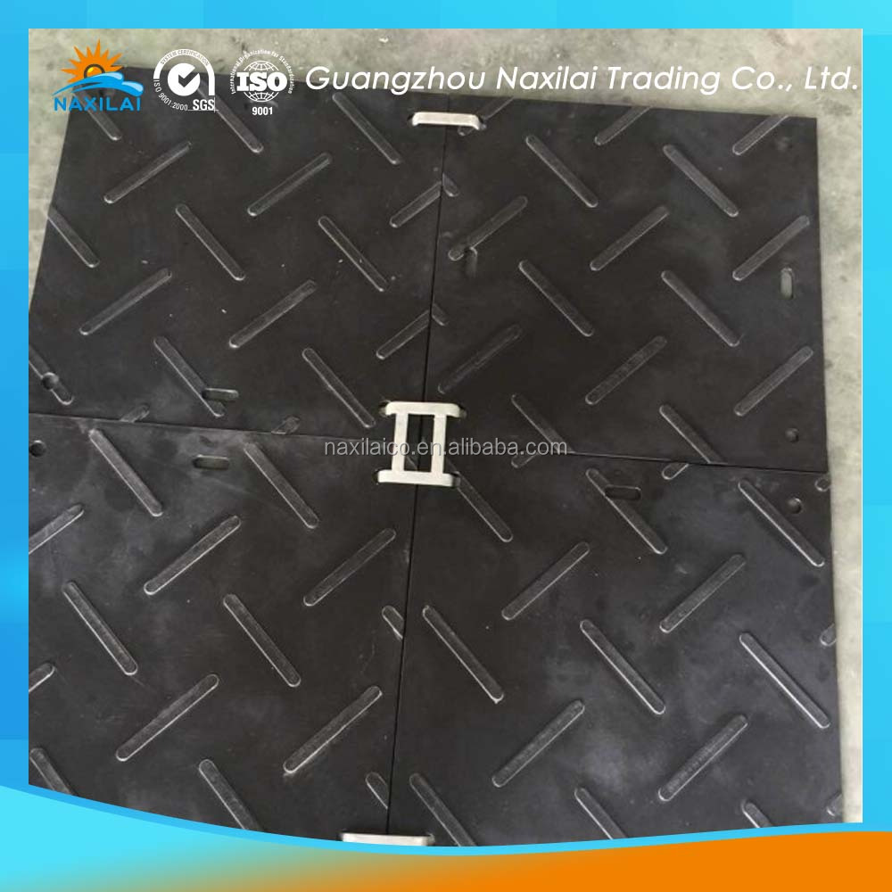 hdpe rubber construction road mat