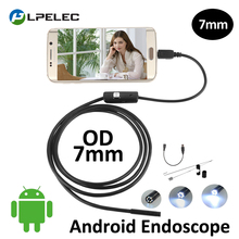 Android Phone Flexible Snake Micro-USB Endoscope Camera 7mm Lens Soft/Semi-Rigid Cable Waterproof Pipe Inspection USB Borescope