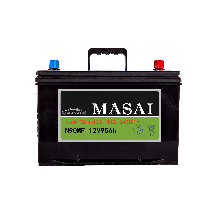 JIS/N standard maintenance free 12v 90AH auto car battery