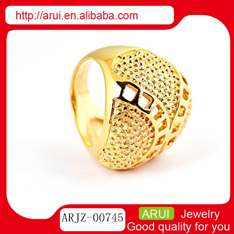 Exquisite golden texture 316l surgical stainless steel ring