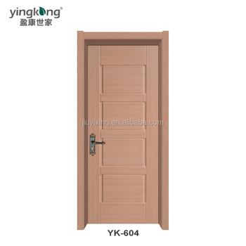Wpc Door Design Plastic Bathroom Wooden Waterproof Door For