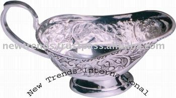 Silver plated Sauce Boat, Metal silverware, Sheffield