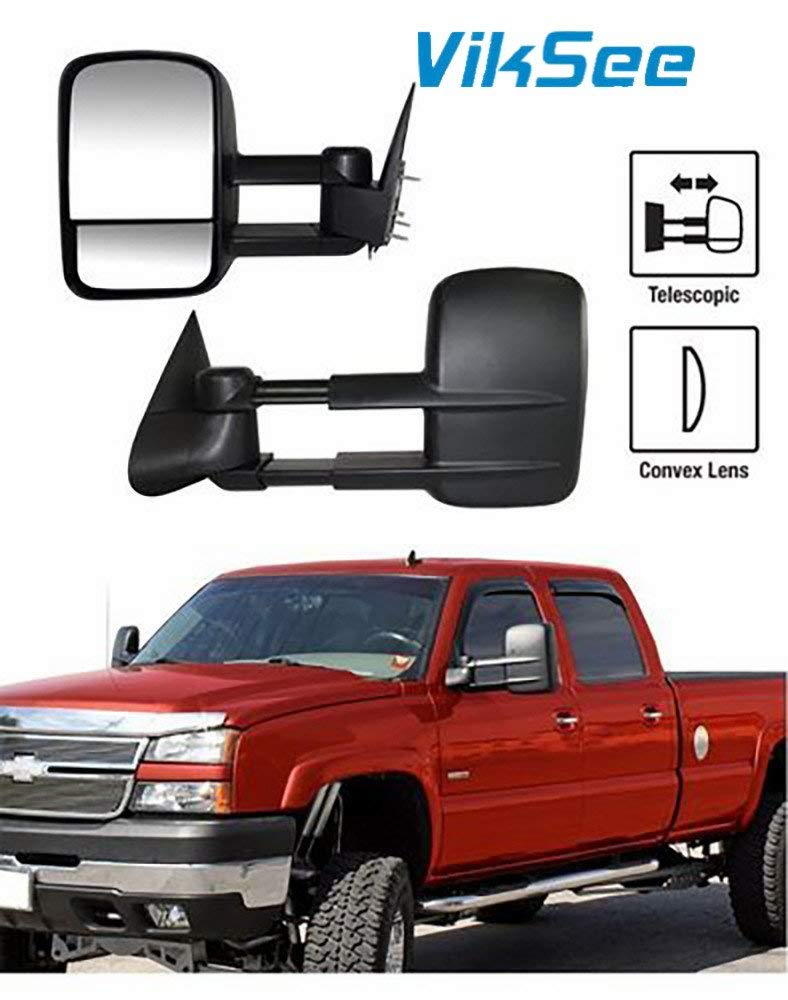 Get Quotations · Viksee 1 Pair Driver & Passenger Side Manual Towing  Mirrors Set For 1988-1998 Chevy