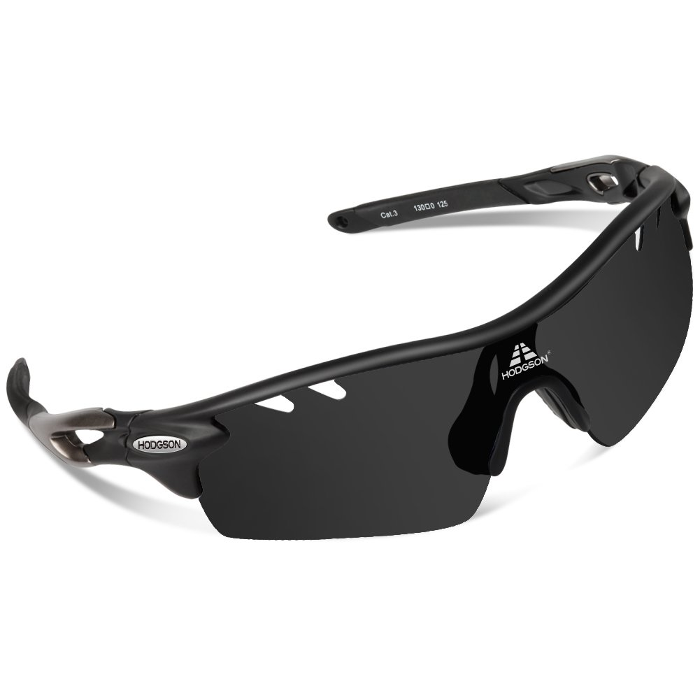 5d554f9e2d Get Quotations · HODGSON Polarized Sports Sunglasses with 5 Interchangeable  Lenses for Men Women Cycling Baseball Running Fishing Driving