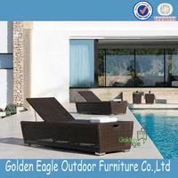 mordern unique style leisure aluminum rattan beach sun lounger with elegant outside