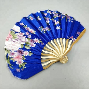 Personalized Chinese Japanese Fabric Floral Round Folding Hand Fan With Gift Bags Wedding Party Supplies Buy Personalized Chinese Japanese Fabric
