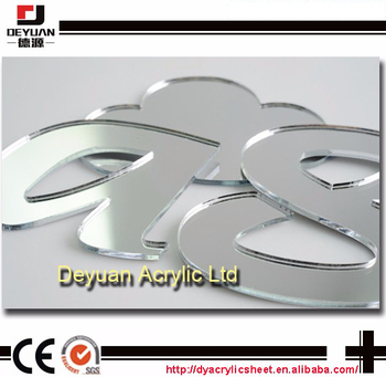 Low Price Custom acrylic mirror shapes letters