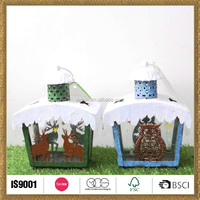handicraft ornament christmas deer and owl decoration lamps