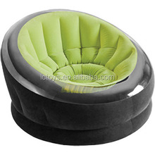 custom and cheap green with black inflatable sofa/chair