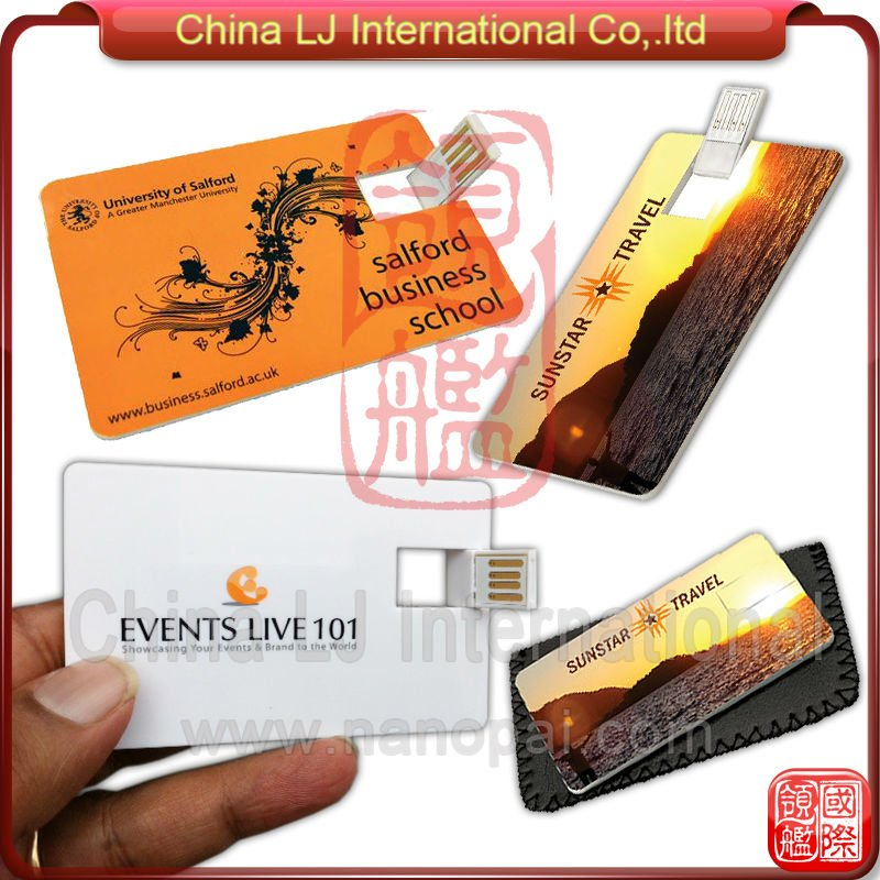 Promotional Custom Printing Card Shape Flash Memory Disk Nfc Smart ...