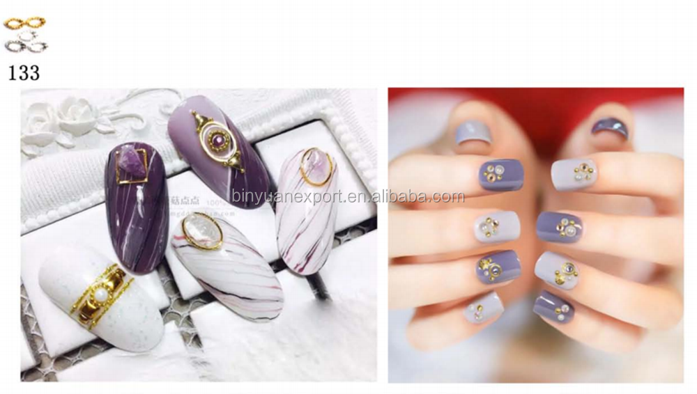 Hot Selling Jewelry Nail Decoration 3D Nail Art Kits mixed 12 design