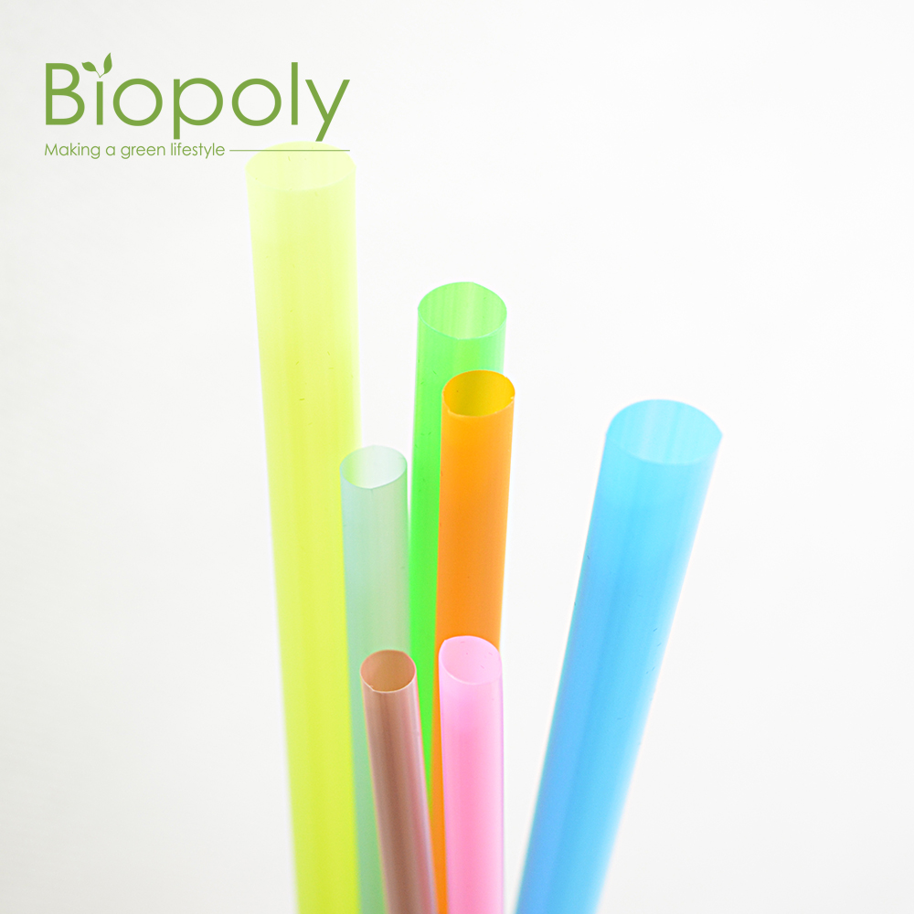 100% Biodegradable and compostable corn starch PLA drinking straw