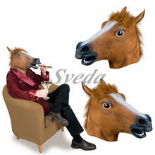 2015 Cosplay marks party masker Paard hoofd masker voor <span class=keywords><strong>Halloween</strong></span> party masker groothandel prijs