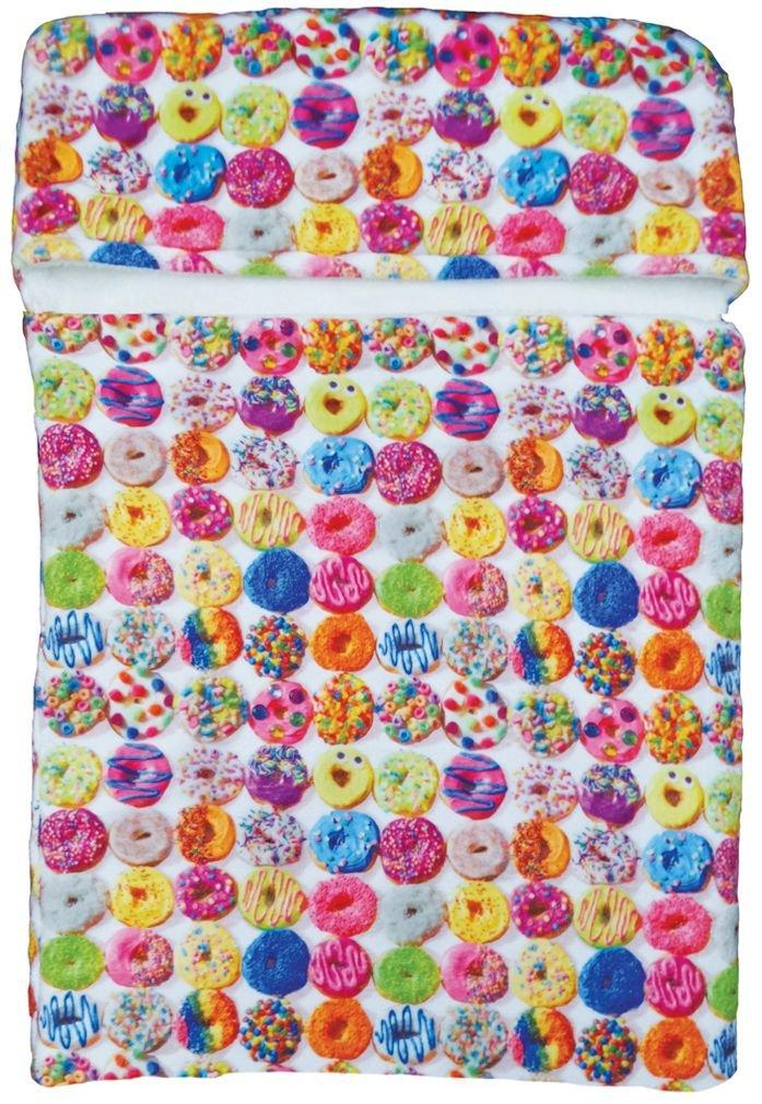"iscream Dozens of Donuts' 70"" x 28"" Faux Sherpa-Lined Fleece Zippered Sleeping Bag"
