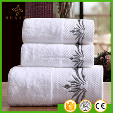 Plain Dyed 21S 600g Extra Thick and luxurious White Color dobby Border Cotton Bath Towel/ Face Towel/Towel Sets