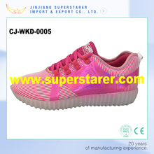 High quality flash night luminous Yeezy sneakers casual LED light shoes