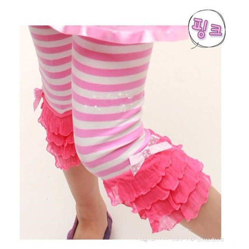 bda484b06ee Get Quotations · 2015 baby new girl leggings summer girl Stripe leggings  girl lace pants girls lace leggings
