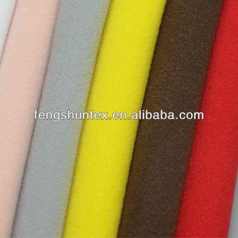 super poly fabric/tricot brush fabric