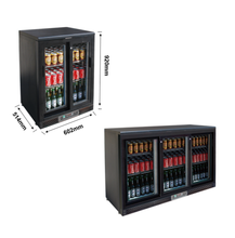 Three Glass Door Storage Beer Cooler Fridge 2-10 Temperature Back Bar Beverage Cooler