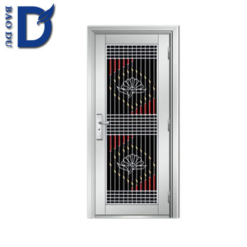 Stainless Steel Frame Glass Door Home Security System Fire Rated ...