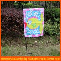Cheap mental stand colorful daisies and butterflies garden flag